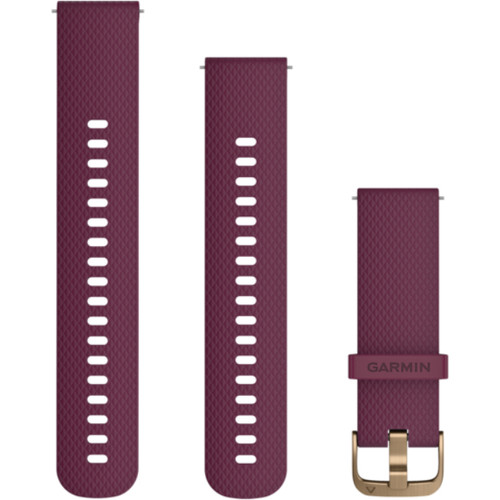Garmin Quick Release Berry Silicone with Rose Gold Hardware (010-12691-05)