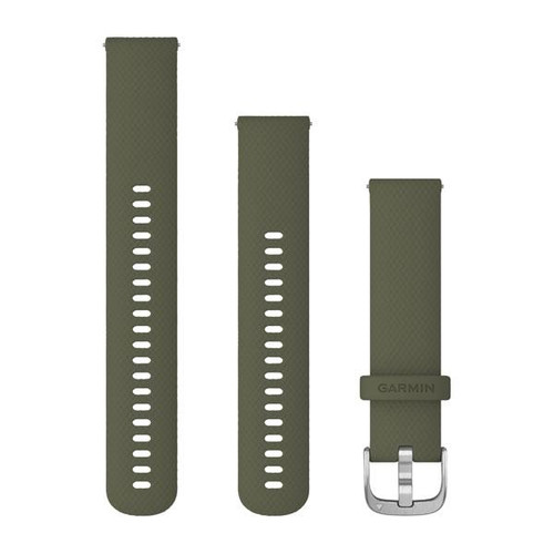 Garmin Quick Release Band (20 mm) Moss with Silver Hardware (010-12924-11)