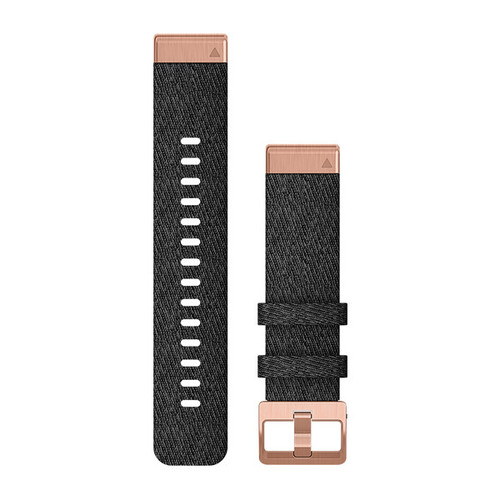 QuickFit 20 Heathered Black Nylon with Rose Gold Hardware