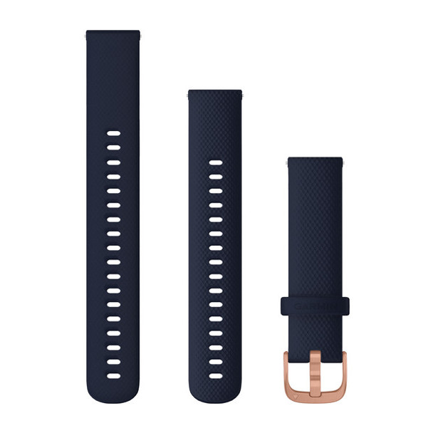 Garmin Quick Release Bands (18 mm) Navy with Rose Gold Hardware (010-12924-33)