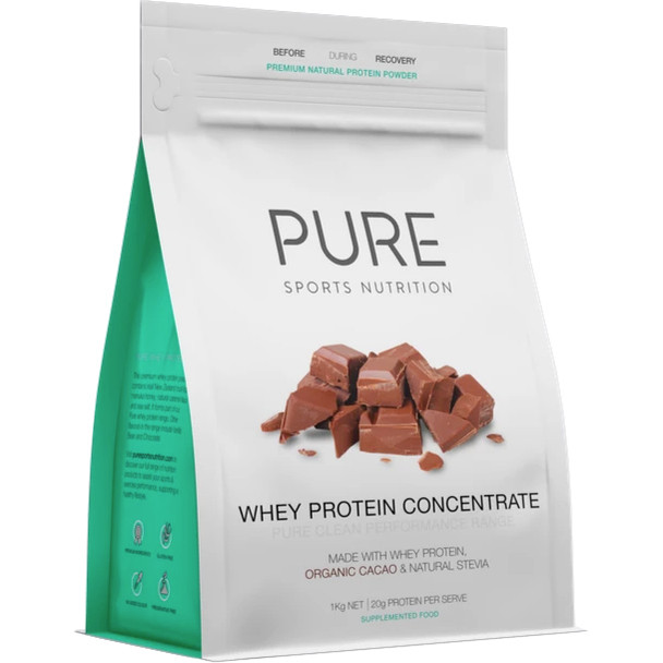 PURE Whey Protein Chocolate 1KG Pouch