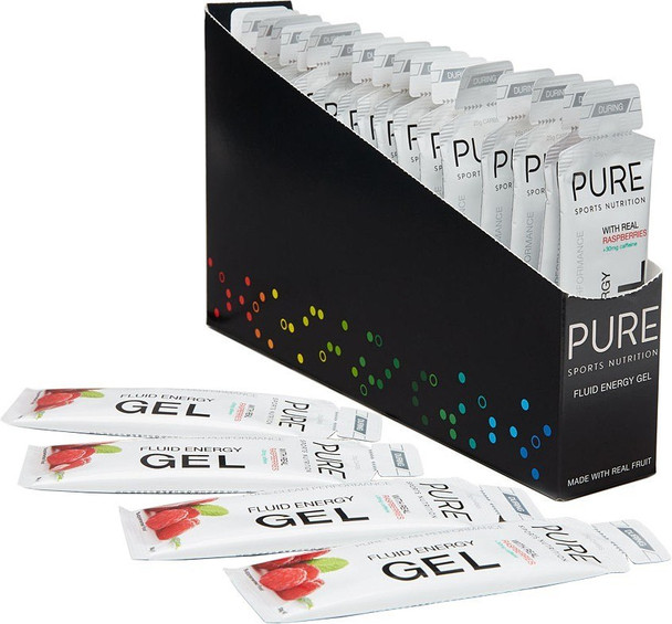 PURE Raspberry + Caffeine Energy Gel 50g x 18 Units