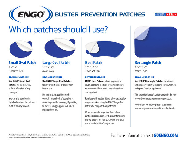ENGO Oval Blister Patch Six Pack (6 count)