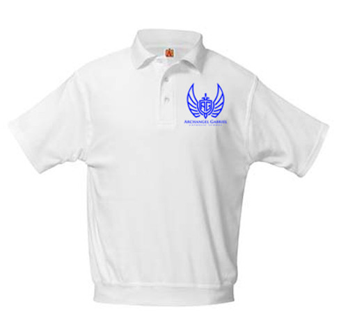 Banded Bottom Knit Polo Short Sleeve-AGS