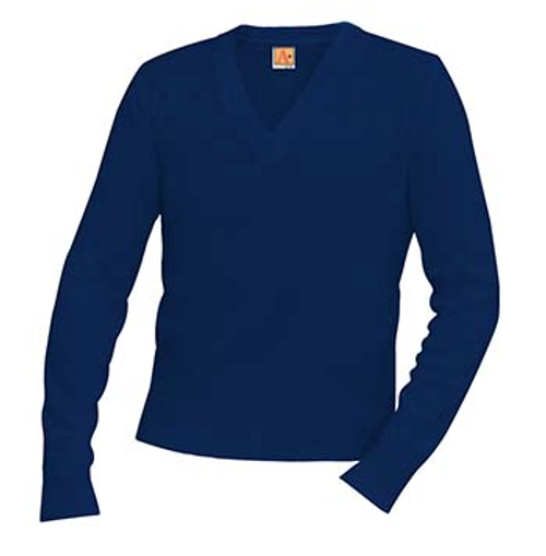 JFK Classic V-Neck Long Sleeve Pullover