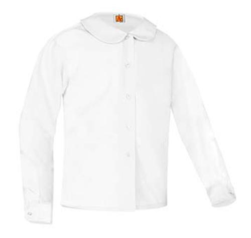 Girls Broadcloth PeterPans Long Sleeve-W