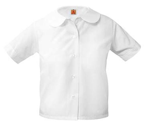 Girls Broadcloth PeterPans Short Sleeve-W