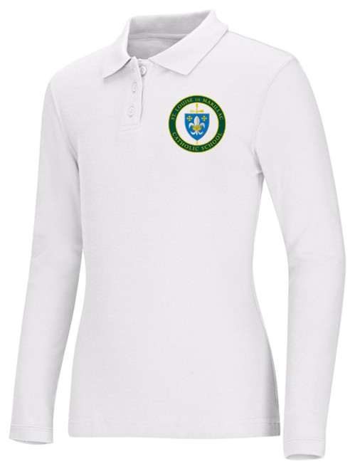 Girls Fit Polo Long Sleeve-STL