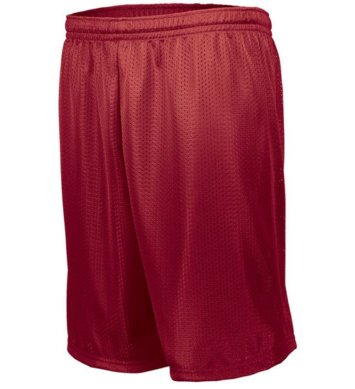 CLEARANCE-Mesh Gym Shorts-Red