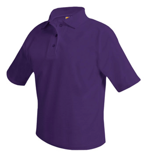 Pique Purple Polo- Short Sleeve