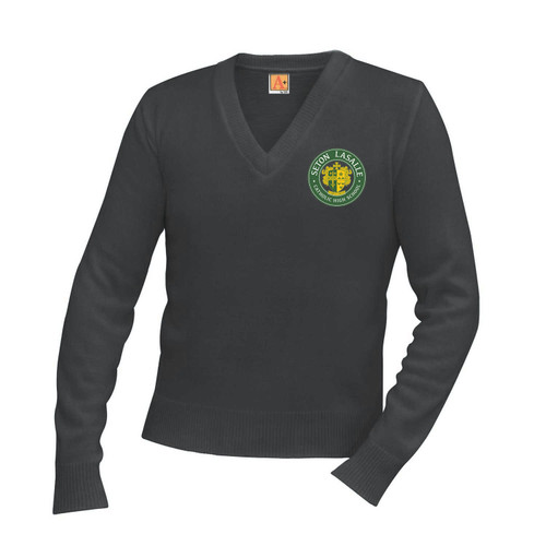 Jersey V-Neck Long-Sleeve Pullover