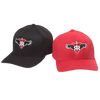 RUFF RIDERS BALLCAPS (RED AND BLACK)