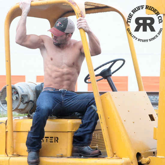 RUFF RIDERS VINTAGE RED Trucker Cap
