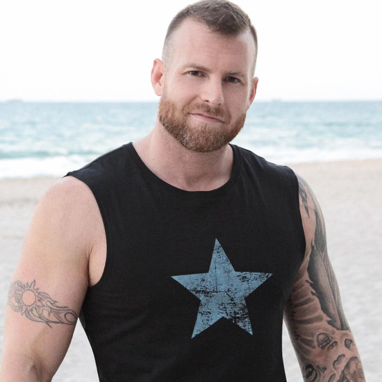 RUFF RIDERS BLUE STAR MUSCLE TEE