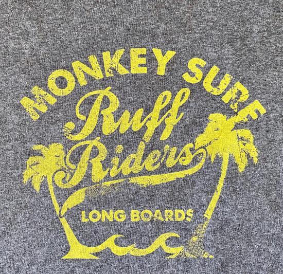 Ruff Riders Monkey Surf Tank (RR Yellow on Light Heather Grey)