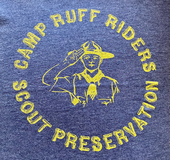 Camp Ruff Tank (RR Yellow on Navy)