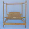 English Farmhouse Spindle Canopy Bed- English Pine