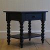 Petite Spindle Side Table in Black Walnut