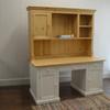 EFF-2632 Kitchen Desk and Hutch - White and English Pine