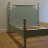 Saundra Spindle Bed - Aqua