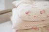 ROSES & SWEET PEAS ~ ROSE ON CREAM LINEN