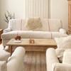English Roll Arm Sofa in French Grain sack by English Farmhouse Furniture