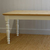 Farmhouse Dining Table - French White with English Pine Top