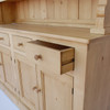 Built in wooden and waxed drawer glides/English Farmhouse Furniture