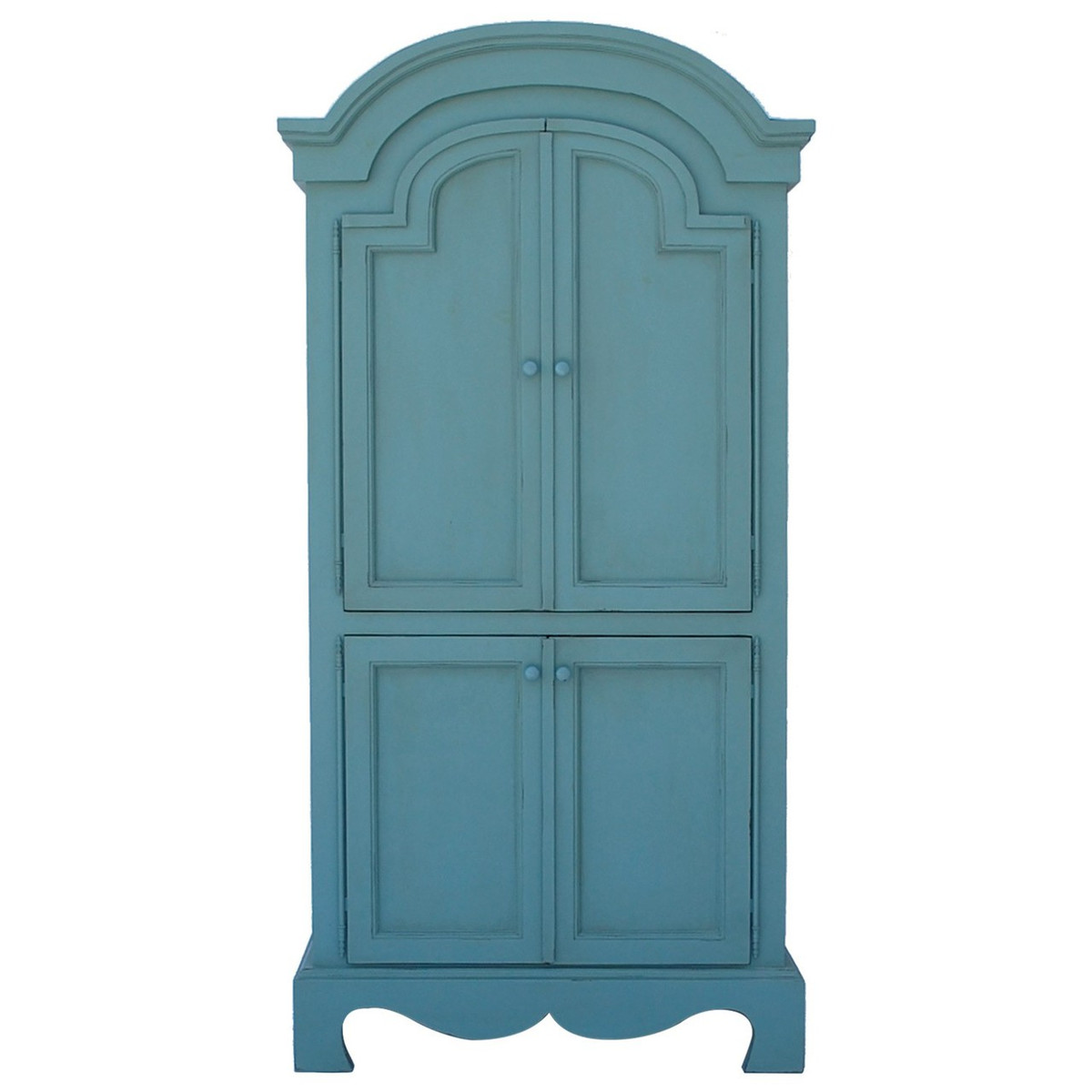 French Farm Armoire - Faded Teal