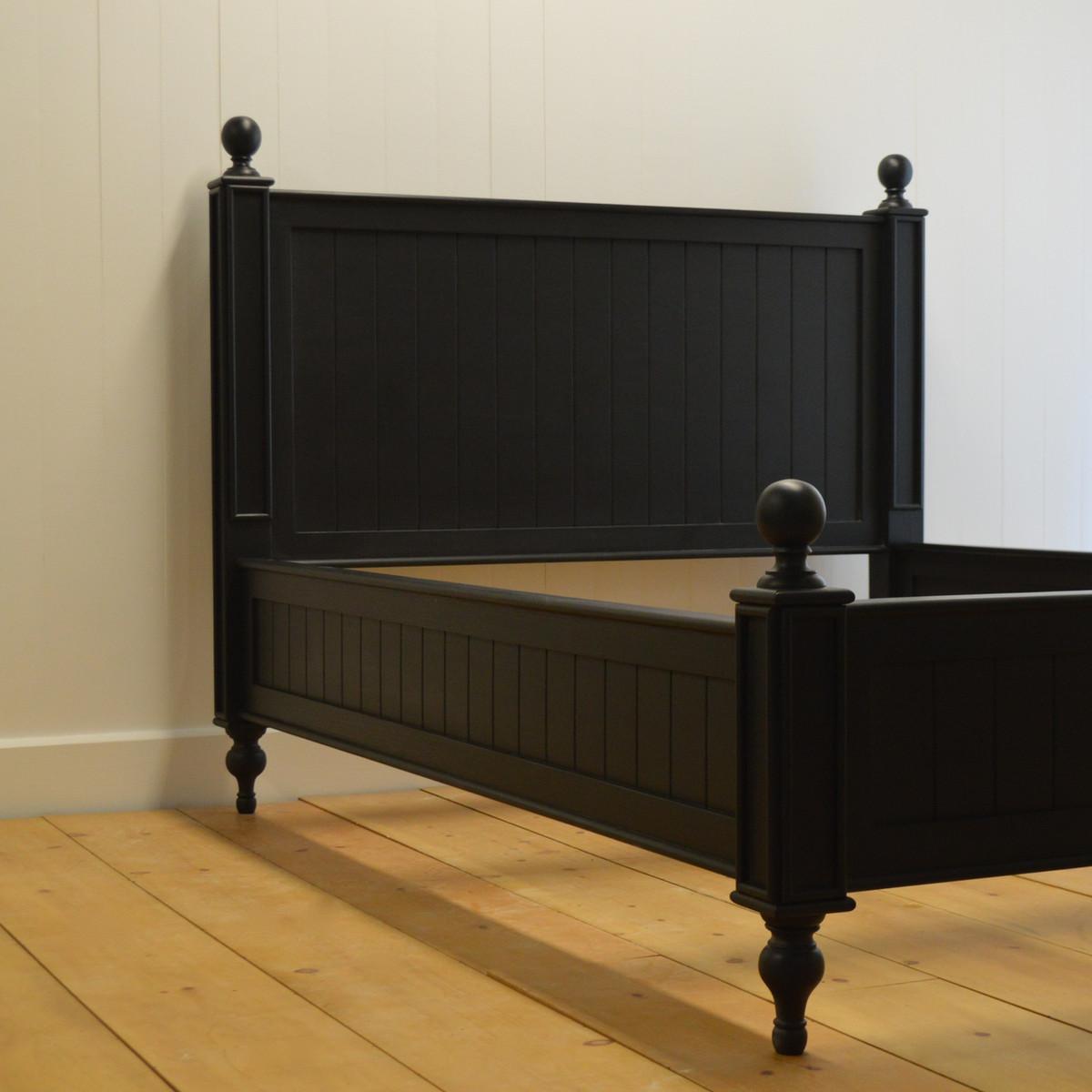 EFF- 2250 Farmhouse Beadboard Bed - Black Walnut
