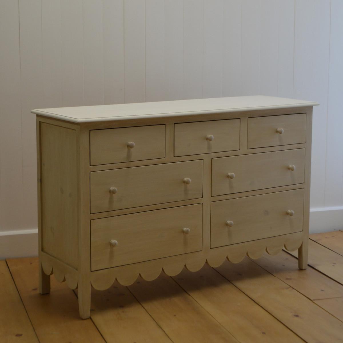 Cottage Scalloped Dresser
