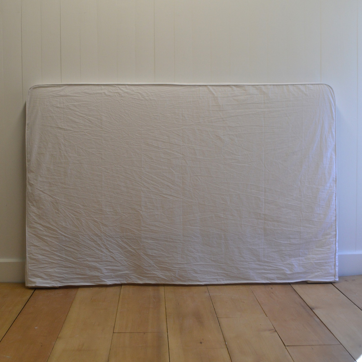 Simple Slip Headboard - White Poplin
