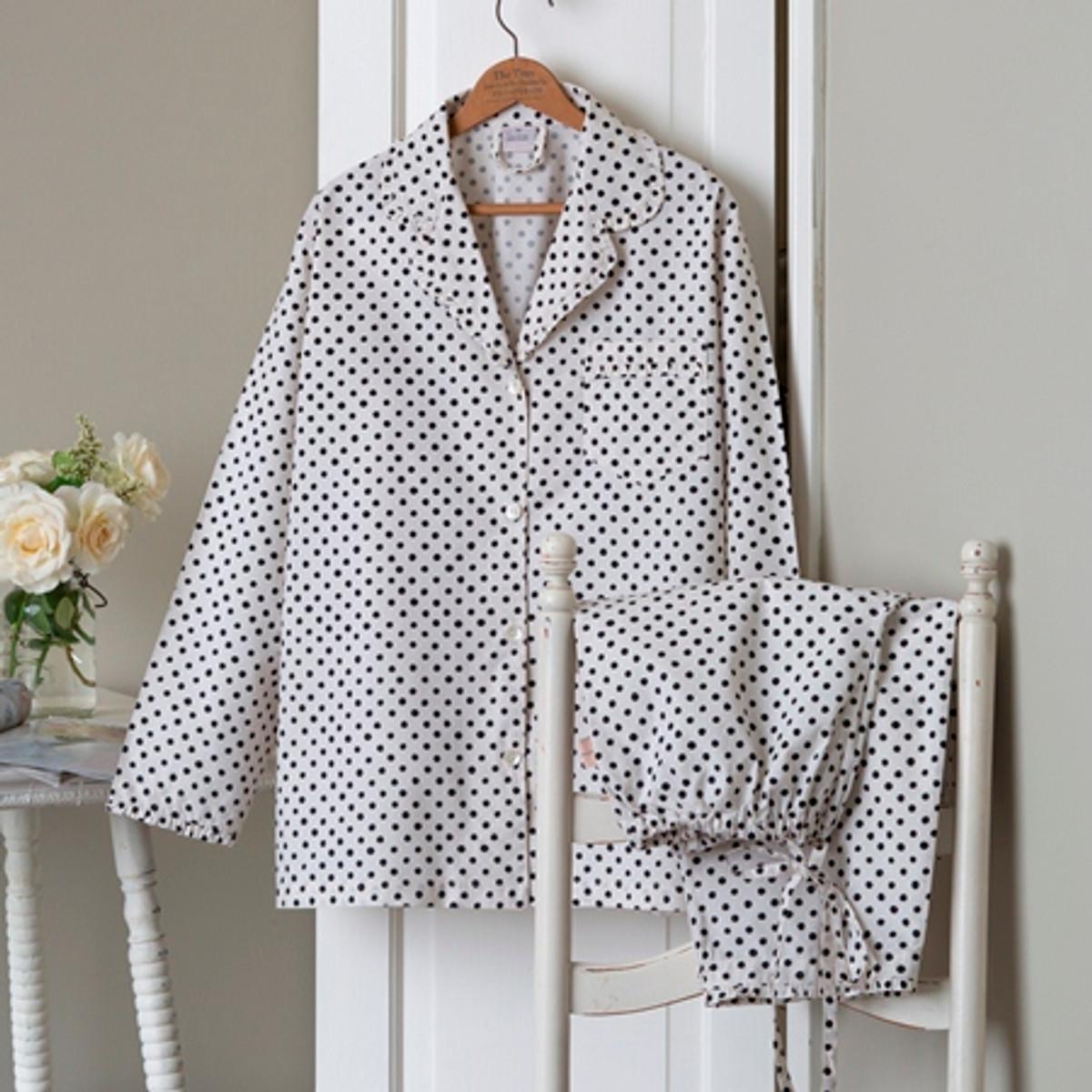 English Farmhouse Polka Dotted Pajamas