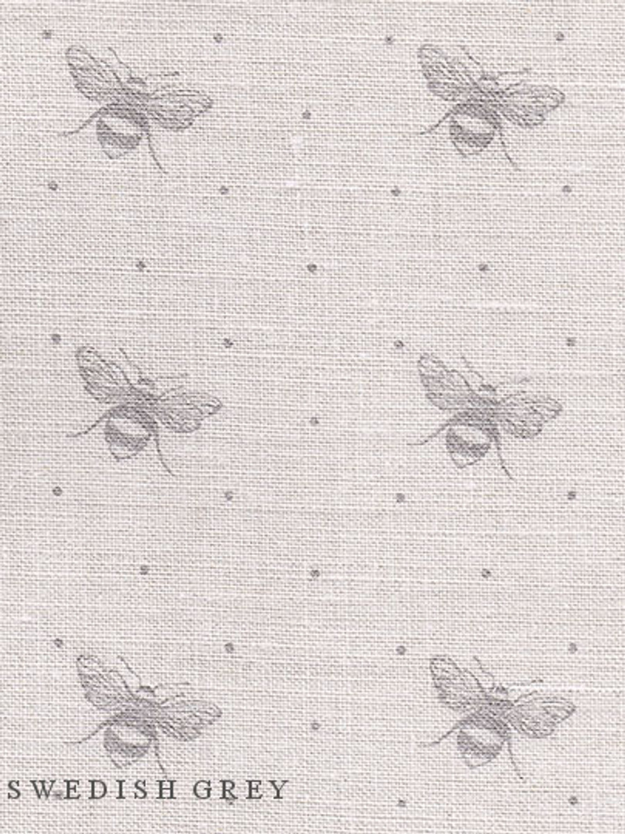 JUST BEES ~ SWEDISH GREY ON CREAM LINEN