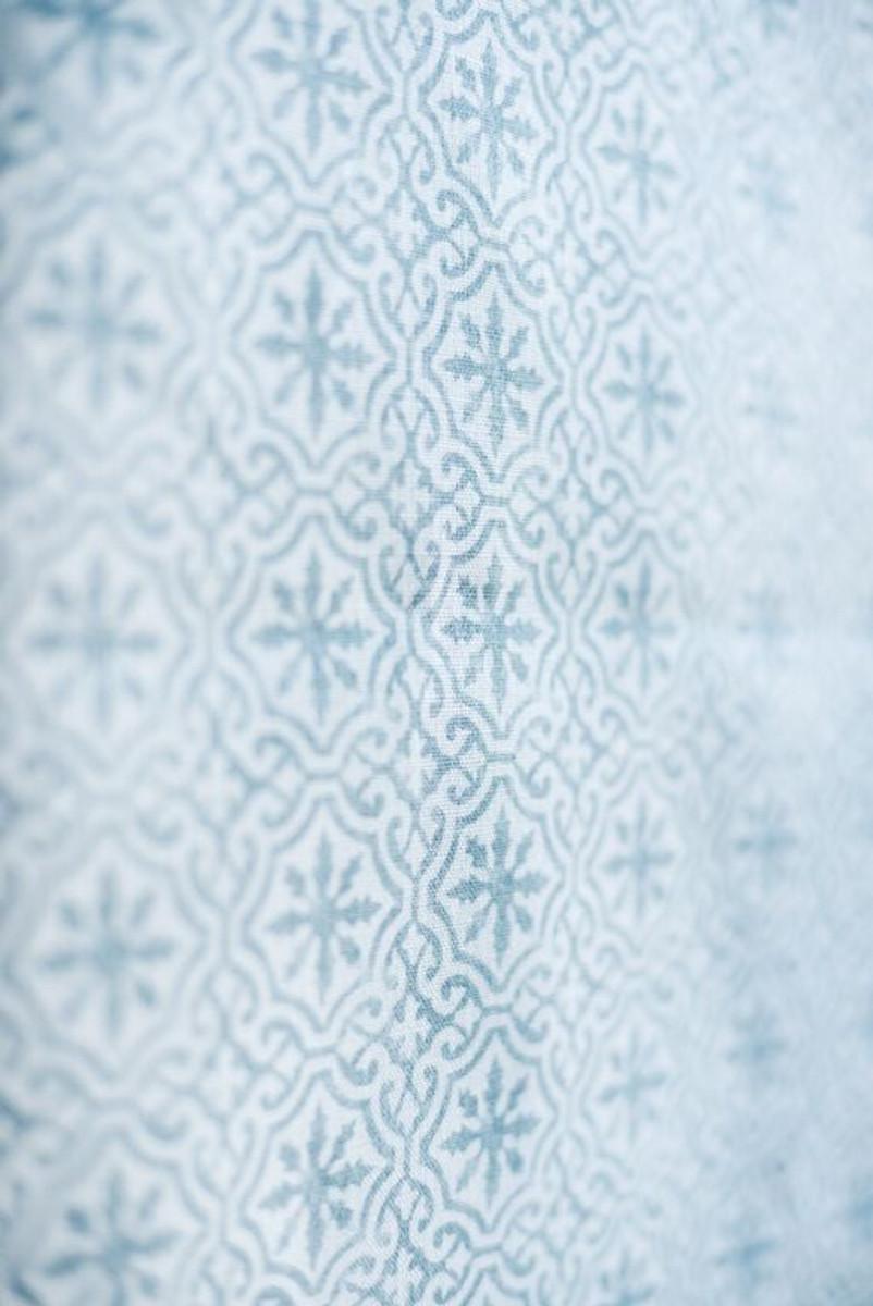 LAKSHMI ~ BAMBURGH BLUE ON IVORY LINEN