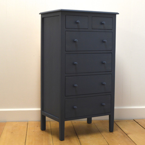 Beatrice Tall Dresser in Nantucket Blue