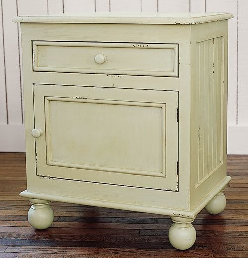 Farmhouse Bedside Table - Sage Gray