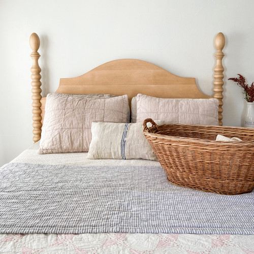 French Farm Spindle Headboard - English Pine