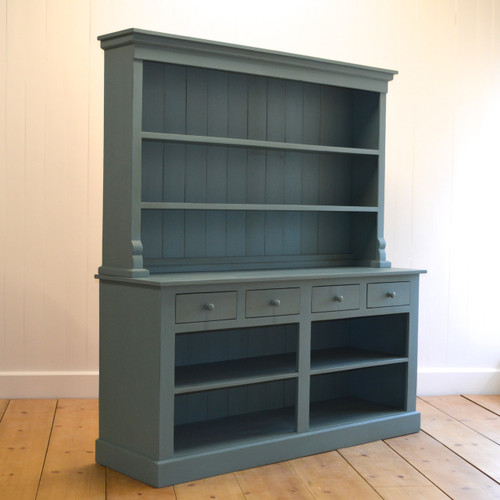 Farmhouse Open Hutch - Faded Teal