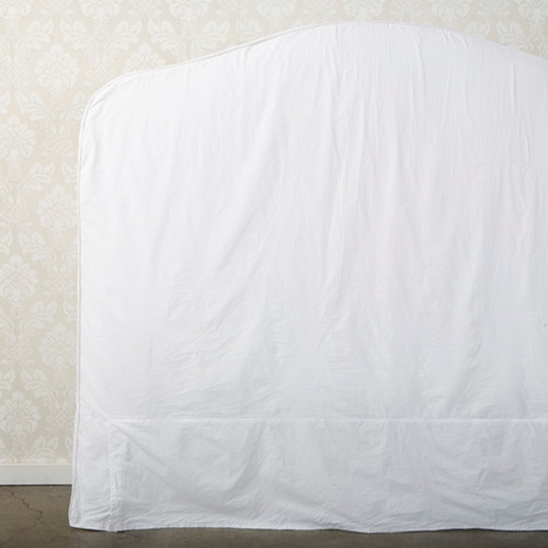 French Slip Headboard in White Poplin