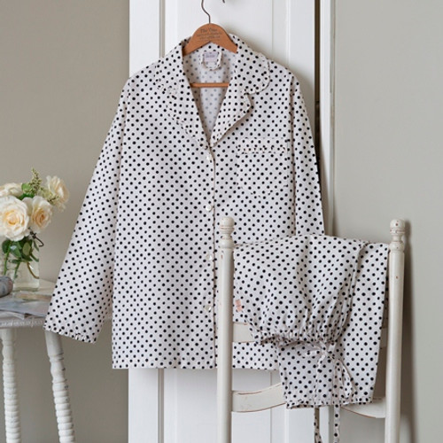 English Farmhouse Polka Dotted Pajamas