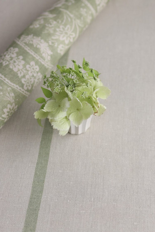 Faded Basil Capri Stripe