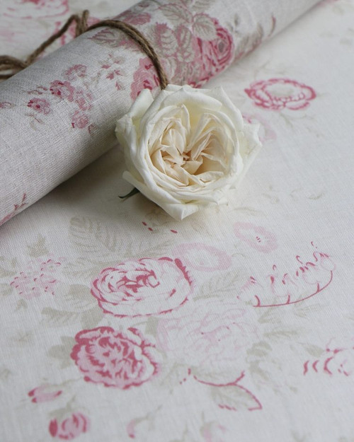 BELLA ROSA ON IVORY LINEN