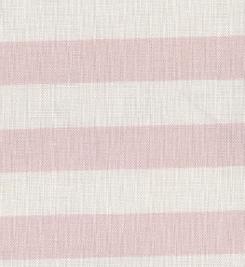 SUMMER STRIPE ~ PINK ICING ON WHITE LINEN