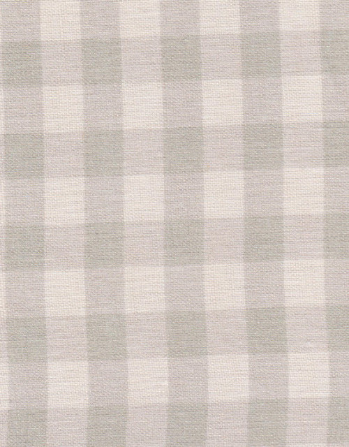 CHECK (SMALL) ~ STONE GREY ON IVORY LINEN