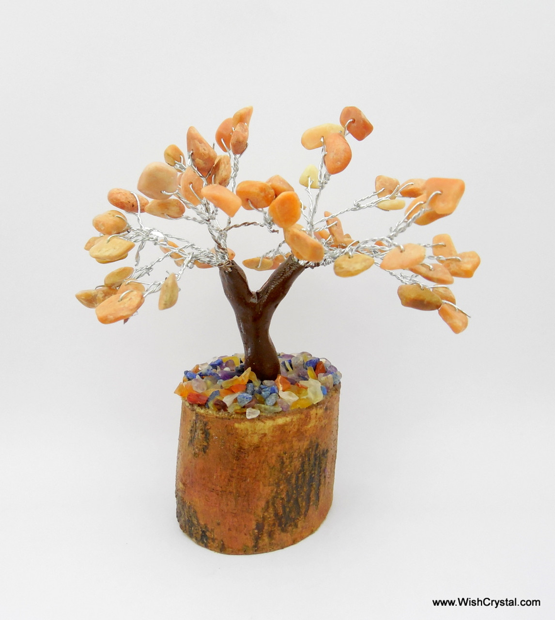 Metaphysical Wholesale Supplier Of Orange Aventurine Gem Tree Petite Natural Crystal Bonsai Tree 4 Inch In United States
