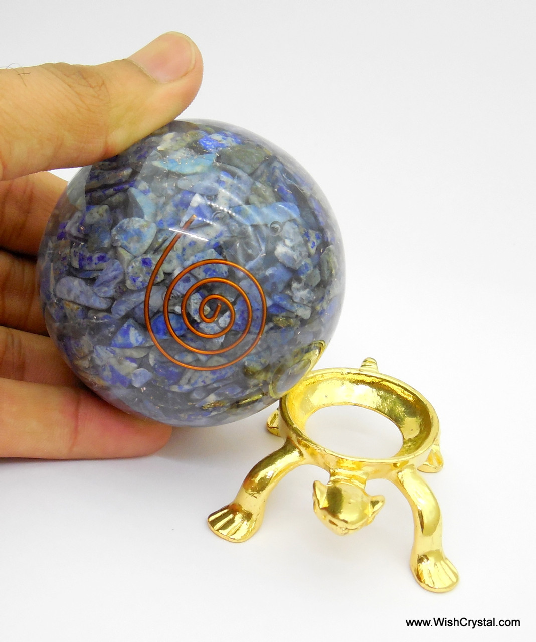 Halo Chakra Stones Orgonite Sphere EMF Protection Healing - 60 mm