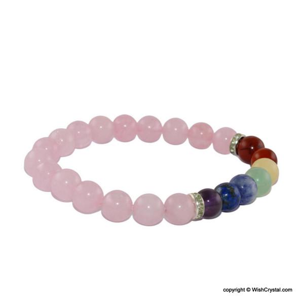 Rose Quartz Chakra Beads Bracelets