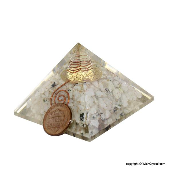 Rainbow Moonstine Orgonite Pyramid