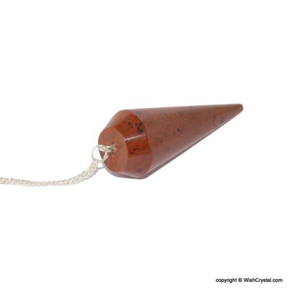 Mahagony Jasper Round Cone pendulum